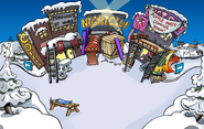 Puffle Party 2009 construction Town