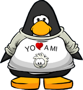 Camiseta Yo Amo a mi Puffle Blanco carta