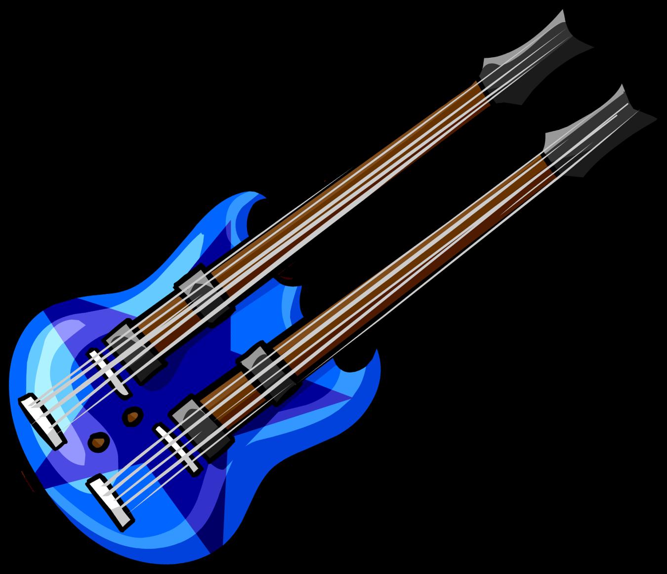 Blue Double Guitar