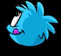 Blue PuffleTongue
