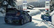 Dirt Ford Fiesta RS Rally Car