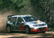 2005 RallyAustralia SkodaFabia McRae