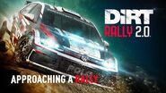 Approaching a rally DiRT Rally 2