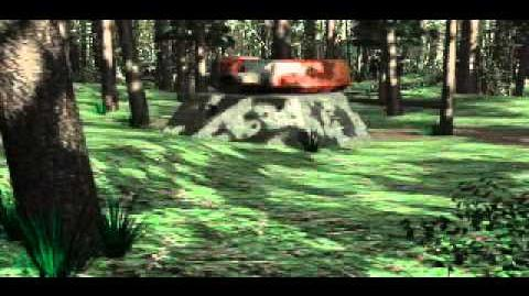 C&C Tiberian Dawn - Turret Being Down Up in Forest