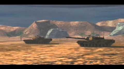 C&C Tiberian Dawn - Tank Rolling Through the Desert