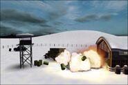 Barrels exploding