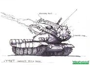RA2 Early Tesla Tank Concept Art