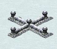 Alied Fortress Walls in Snow Theater