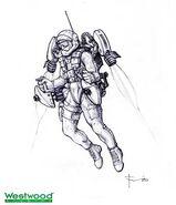 RA2 Rocketeer final concept art