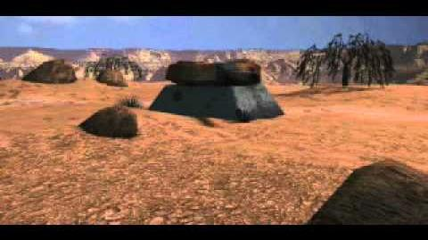 C&C Tiberian Dawn - Turret Being Blown Up in the Desert