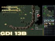 Command & Conquer Remastered - GDI Mission 13B - ION CANNON STRIKE YUGOSLAVIA EAST (Hard)