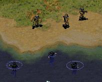 Navy SEALs in desert-camo uniforms