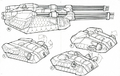 CNCW Mammoth Turret Concepts Lineart