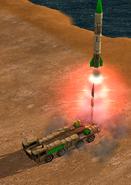 Запуск ракеты SCUD L