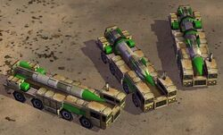 Scud lauchers: basic, upgraded once, upgraded twice
