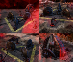 The three Disruption Field Generators protecting Temple Prime must be destroyed