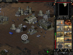 In-game screenshot showing a small NCM base