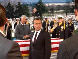 President Dugan at Carville's funeral