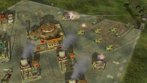 GLA forces capturing the Chinese base