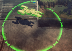 A Kodiak with Defensive Maneuvers active