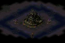 Yuri's Transylvanian castle where he hides inside for the final showdown