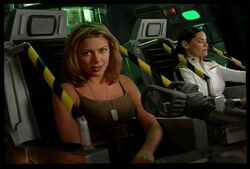 Tanya and Eva in the time machine