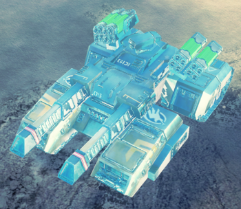 With blue Tiberium core and mirror plating