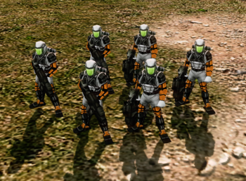 With Tiberium field suits
