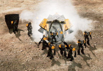 Zone troopers emerging
