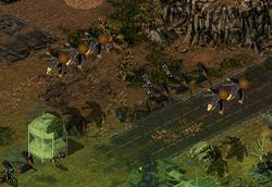 Drop pods approaching Phoenix Base