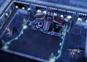 One of the power cores of the Floating Fortress, both of them must be destabilized to destroy the Fortress