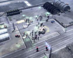 Militia attacking GDI hangars
