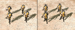 A grenadier squad before and after EMP grenades upgrade