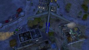 B-52 beginning to carpet bomb a GLA base