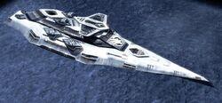 GDI battleship offshore at Hampton Roads