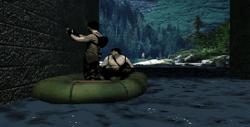 Saboteurs planting a C4 on a bridge.