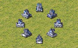 The default IFV design with rocket launchers