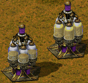 Empty (left) and full (right) bio reactors