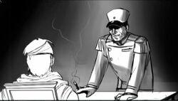 Pierre Legrand interrogating Jarmen Kell