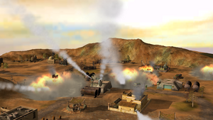 Cruise missile attack at toxin bunkers