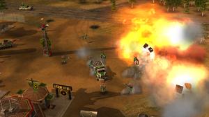 GLA assault on Chinese base