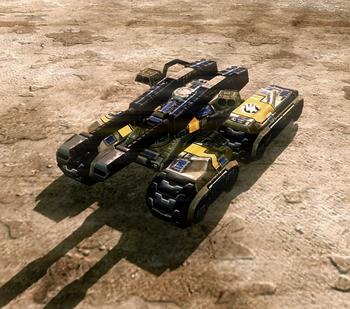 With railguns and adaptive armor