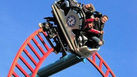 Alton Towers Spin ball Whizzer Roller Coaster POV