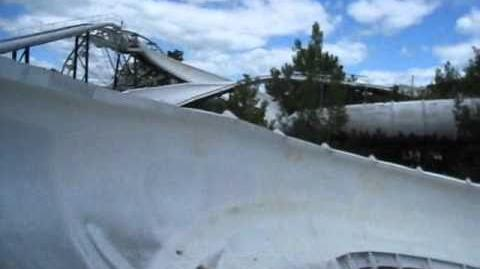 Alpine Bobsled Front Seat on-ride POV Great Escape
