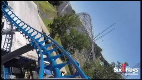 POV- ALL NEW Blue Hawk at Six Flags Over Georgia