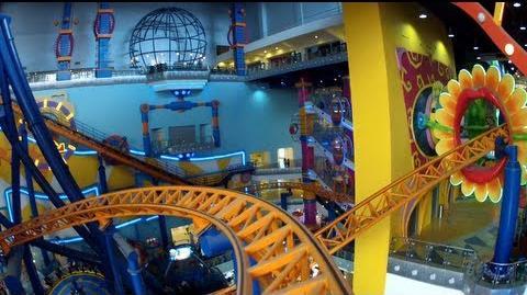 Supersonic Odyssey Roller Coaster POV Times Square Theme Park Malaysia (Cosmo's World) HD