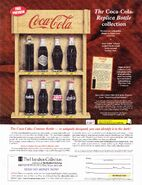 The coca-cola replica bottle collection