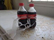2 12oz Coke Bottles
