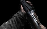 Cerrando la escopeta de doble barril recortada WaW