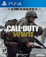 CoD WWII - Carátula de PS4 de la Edición Pro